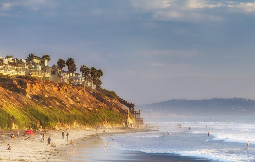 Grandview Beach in Encinitas, California.