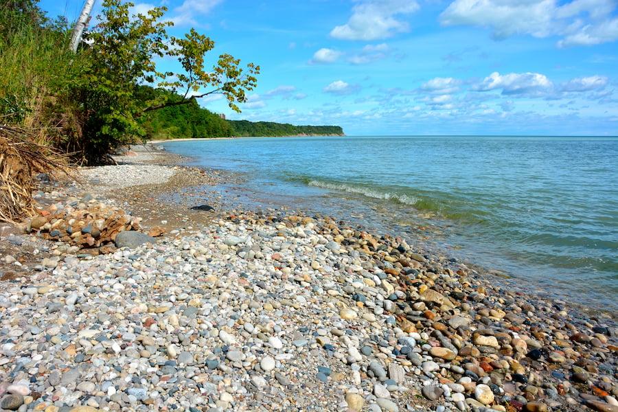 Grant Park Beach in Milwaukee County, Wisconsin.