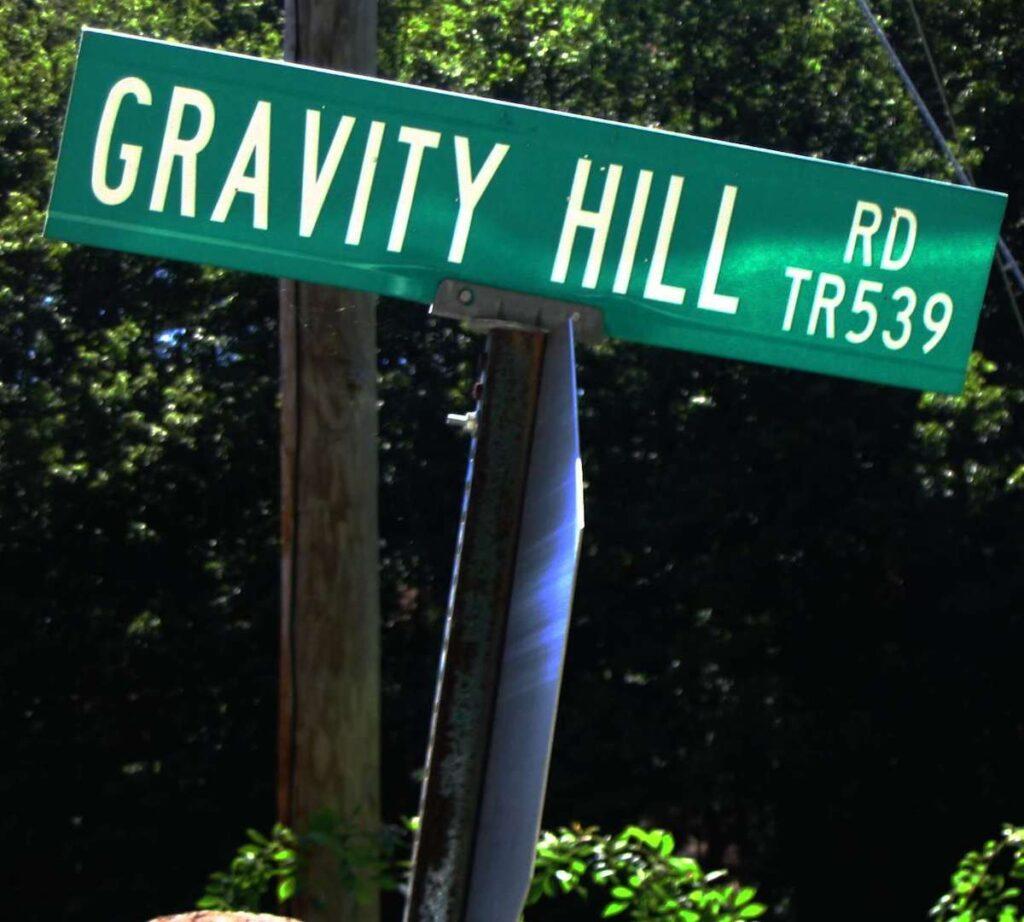 Gravity Hill Road in Sylacauga, Alabama.