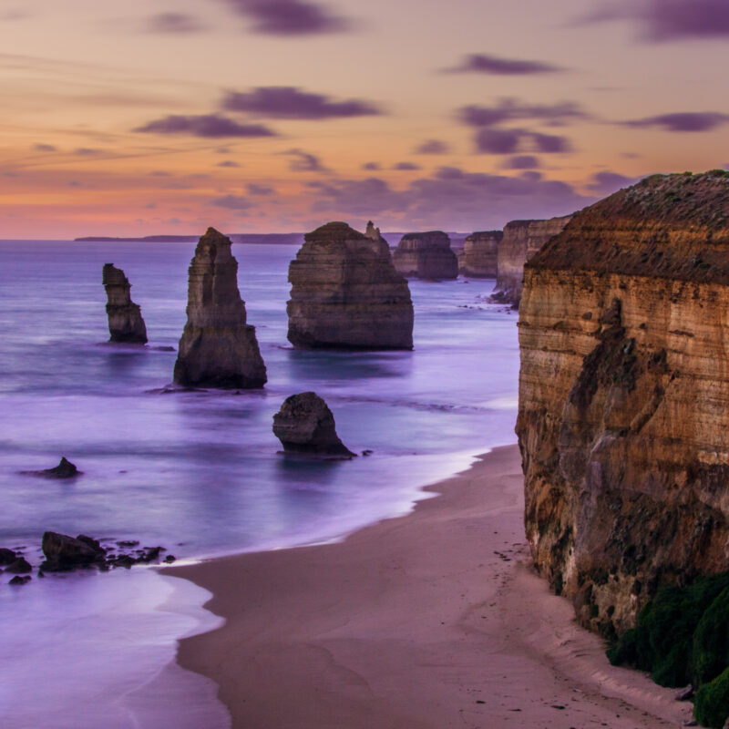 Great Ocean Road views in Australia.