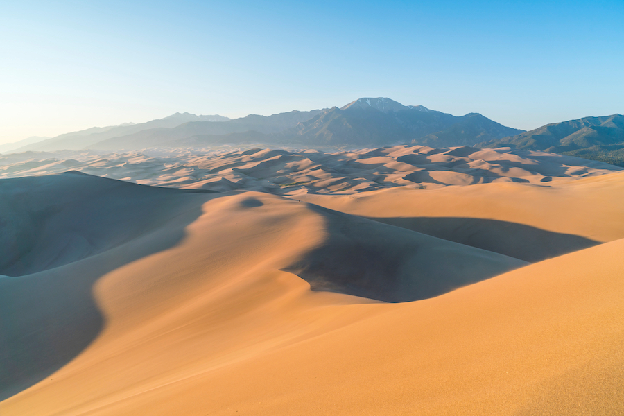 Great Sand Dunes National Park And Preserve in Colorado.