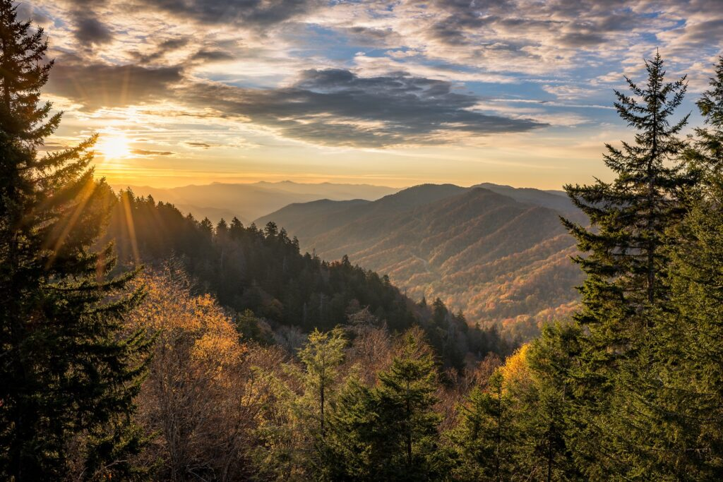 Great Smoky Mountains National Park in Tennessee.