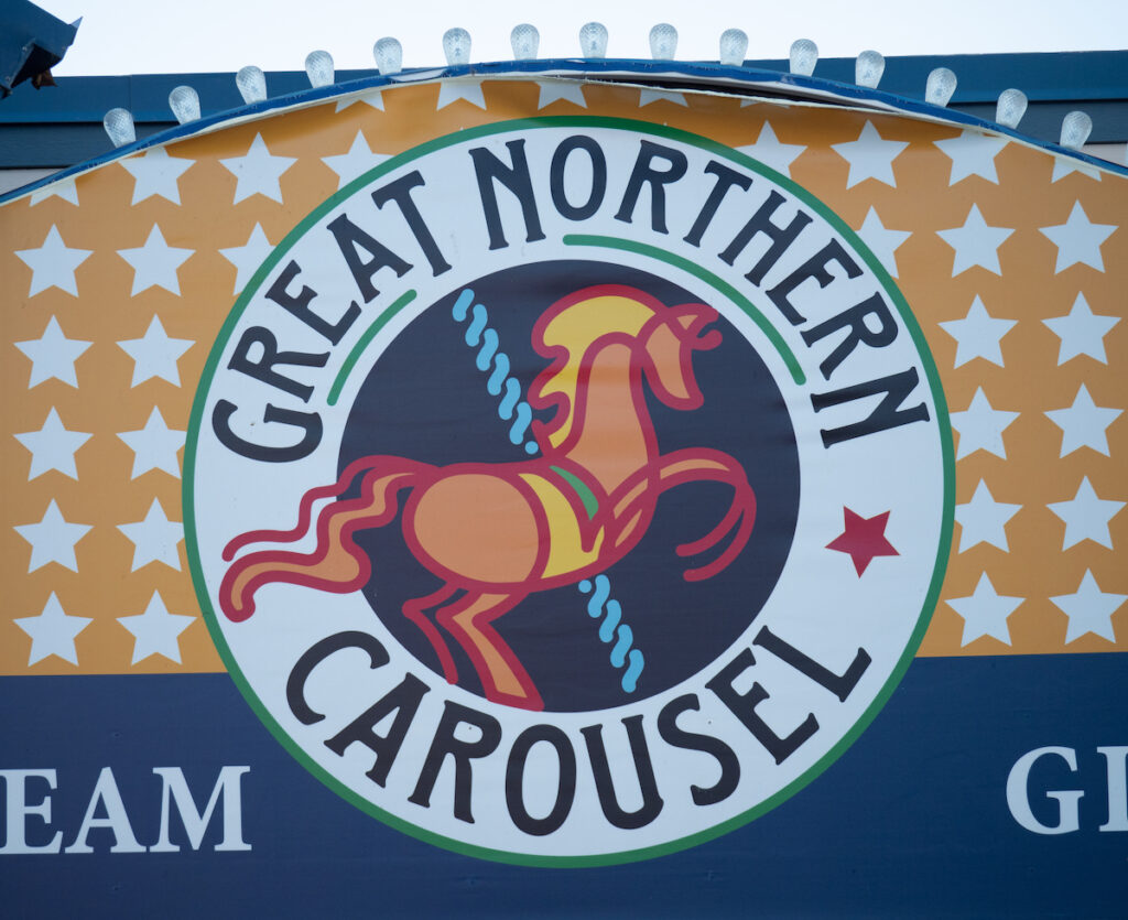 Greath Northern Carousel sign.