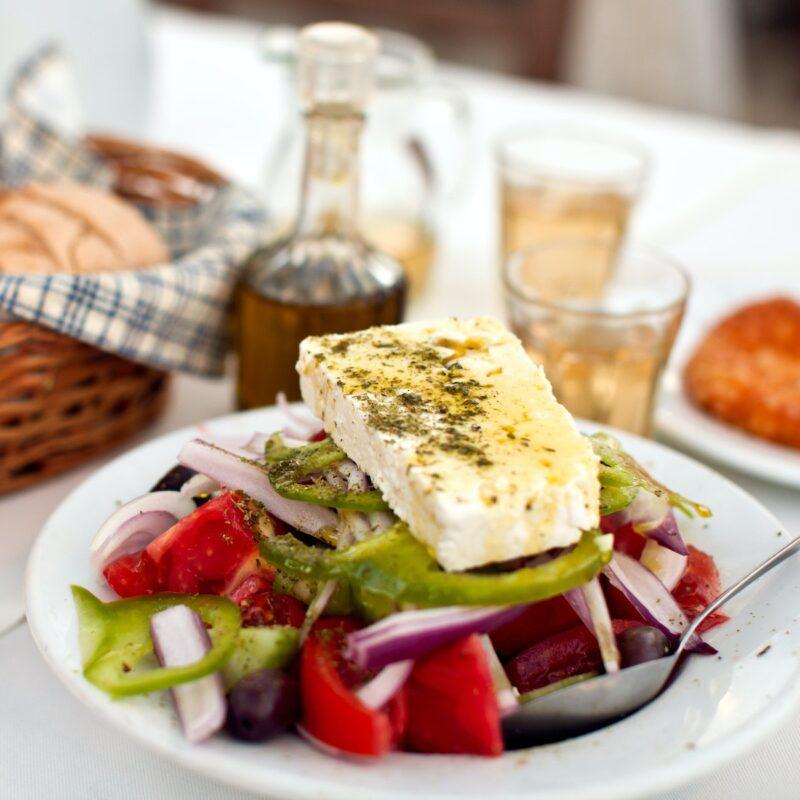 Greek food at home.