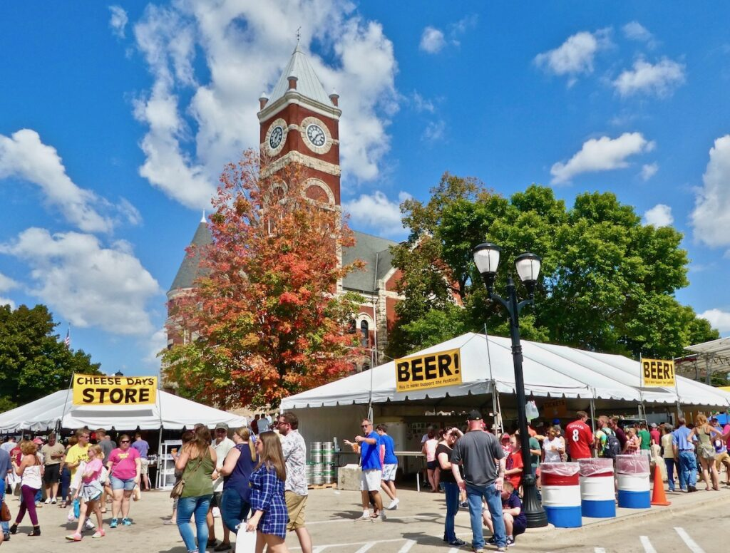 Green County Cheese Days in Monroe, Wisconsin.