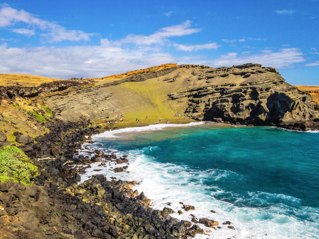 Green Sand Beach in Hawaii.