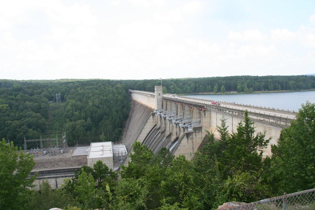 Greers Ferry Dam in Arkansas.