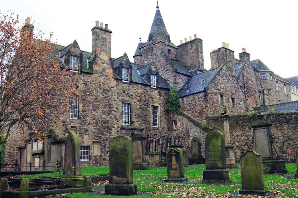 Greyfriars Kirkyard, a haunted church and cemetery in Edinburgh.