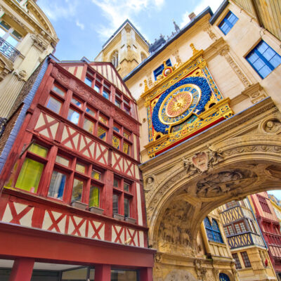 Gros-Horloge, Rouen, Normandy, France.