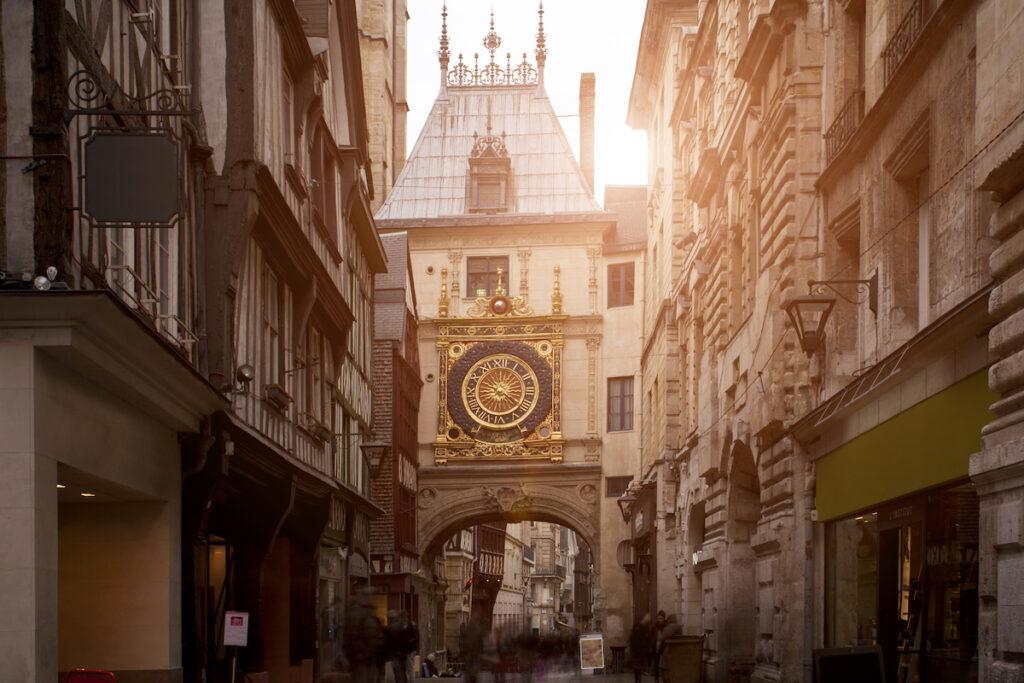 "Gros-Orloge, ""Great Clock,"" Rouen, France."