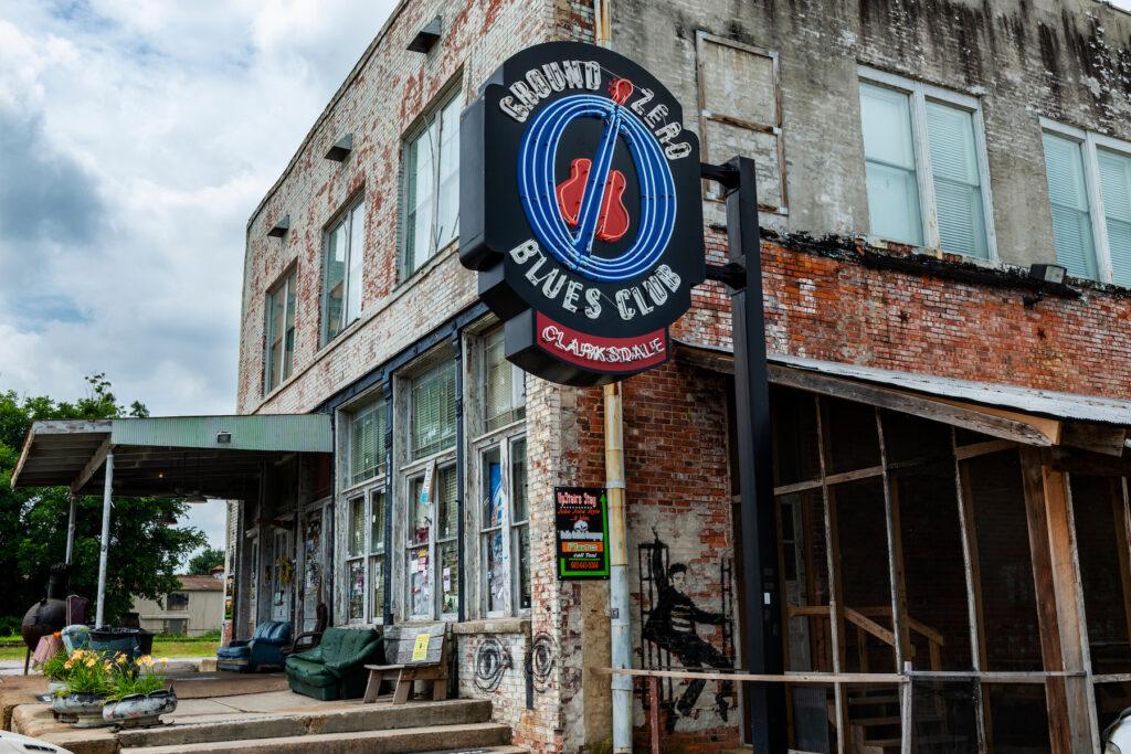 Ground Zero Blues Club in Clarksdale, Mississippi.
