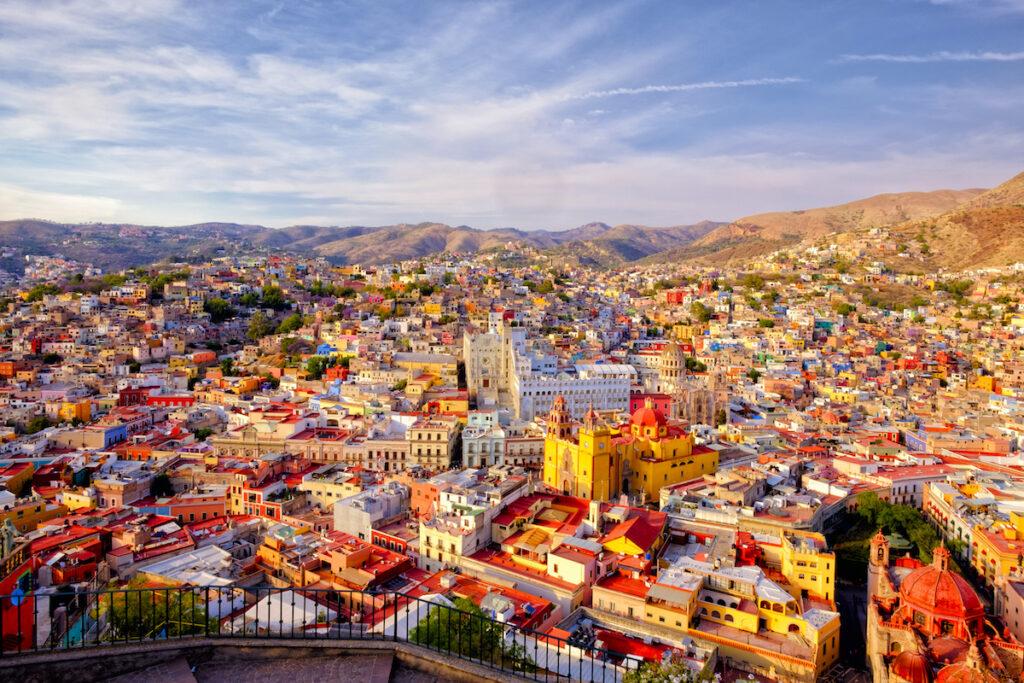 Guanajuato, Mexico, aerial view.