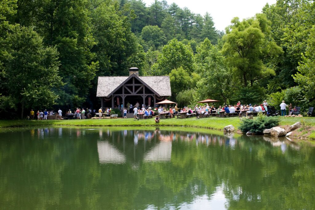 guests enjoying blackberry farm's property in the tennessee foothills