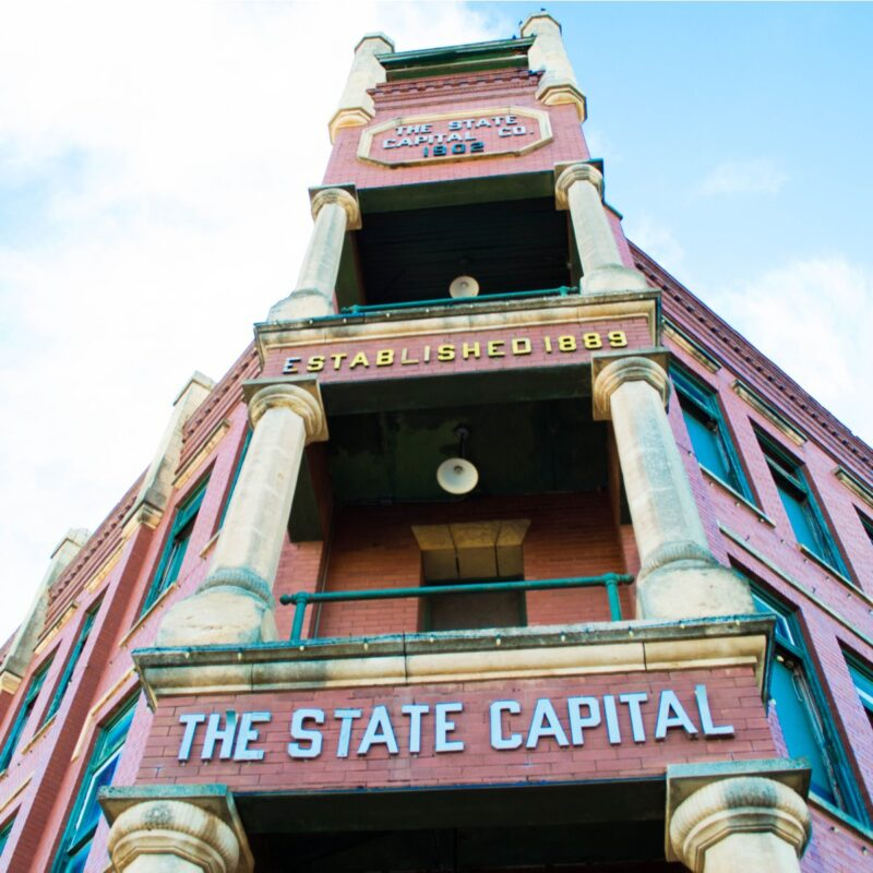 Guthrie, Oklahoma, the state's first capital.