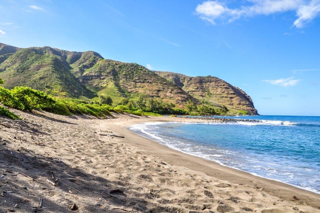 Halawa Beach in Molokai, Hawaii.
