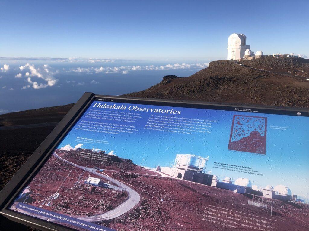 Haleakala Crater Summit on the isle of Maui.