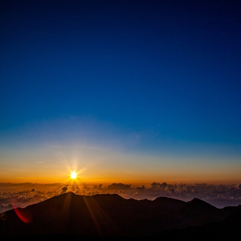 Haleakala National Park sunrise, Maui, Hawaii.