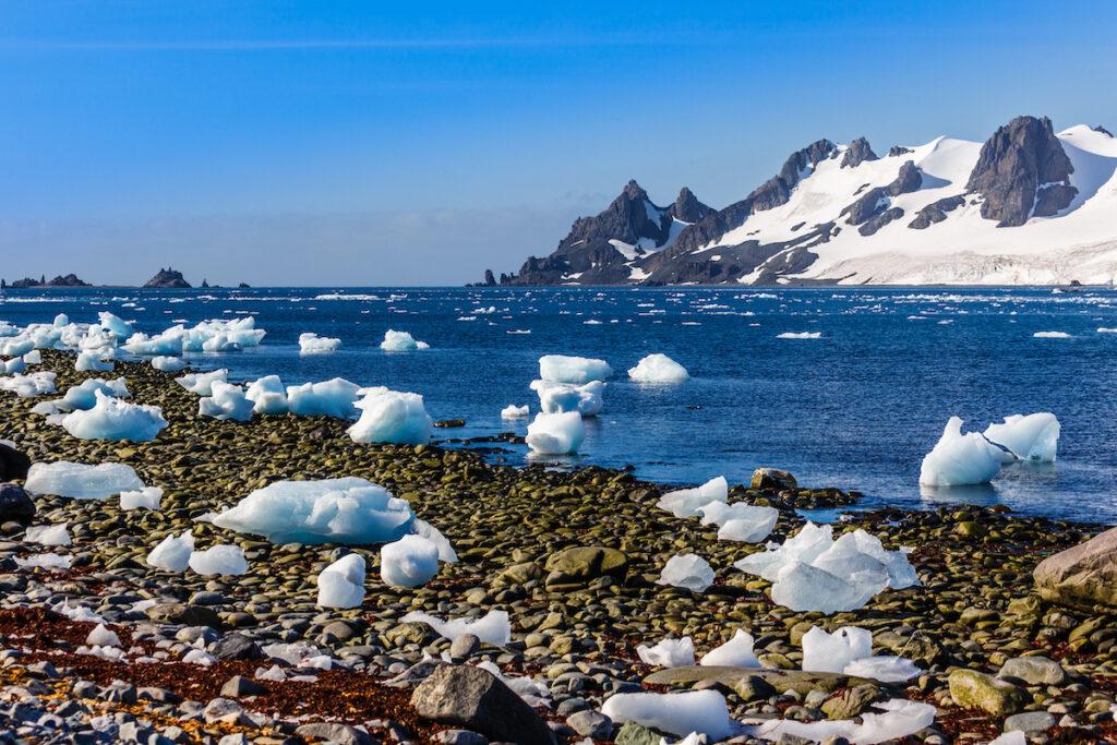 Half Moon Island in Antarctica.