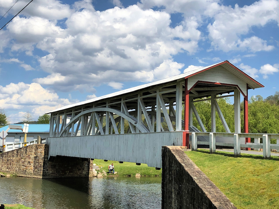 Hall's Mill Covered Bridge in Bedford County.