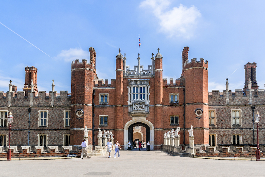 Hampton Court Palace in London.