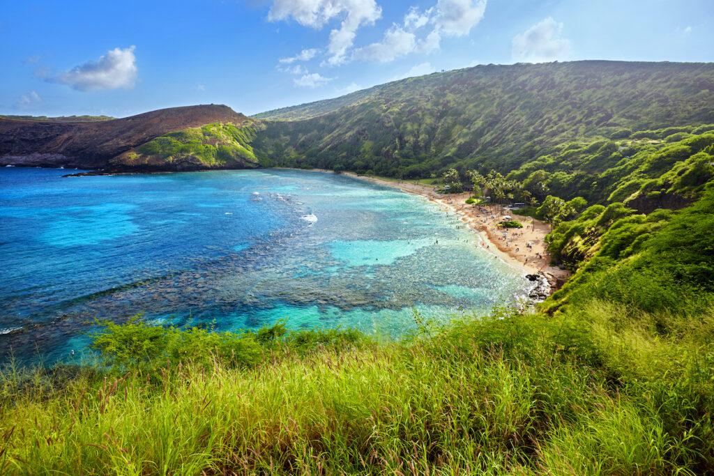 Hanauma Bay, a popular tourist destination in Hawaii.
