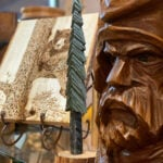 Hand-carved gifts for sale along the Great Smoky Arts and Crafts Trail.