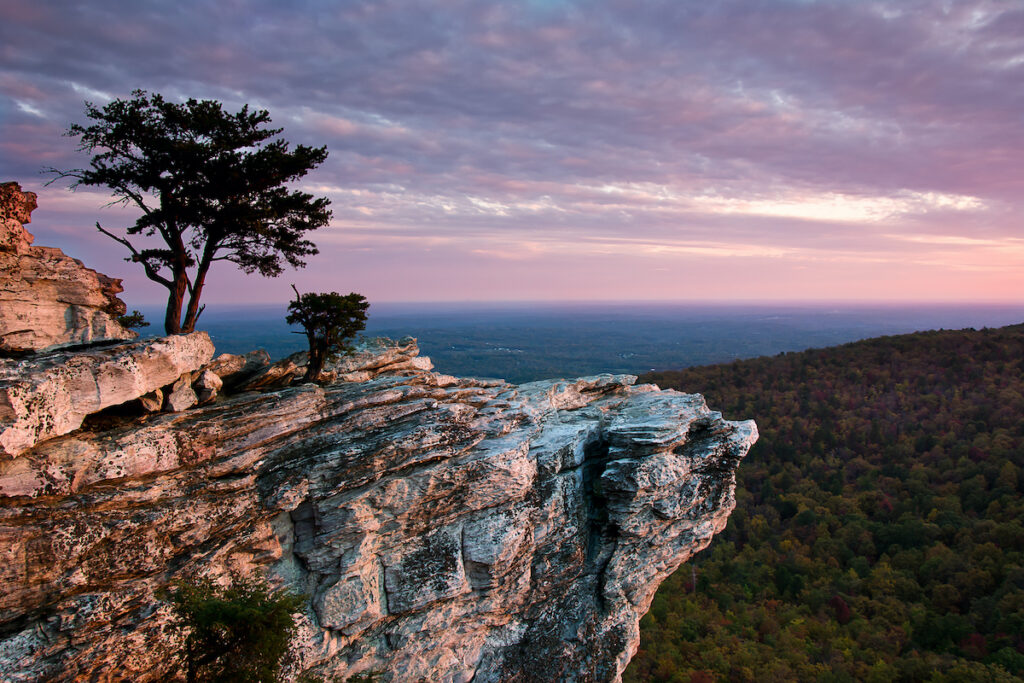 Hanging Rock State Park in Danbury, North Carolina.