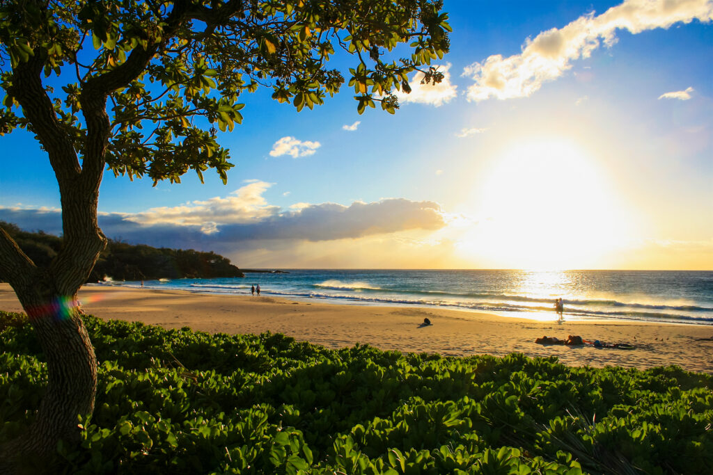 Hapuna Beach State Park in Hawaii