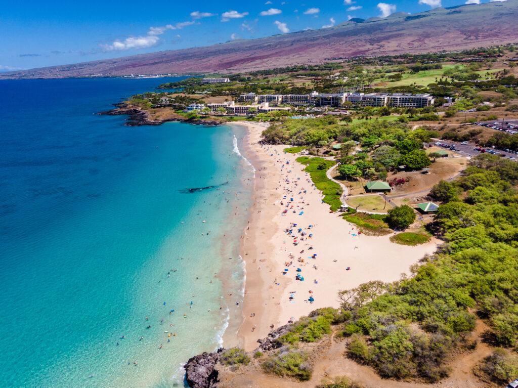 Hapuna Beach State Park on the big island of Hawaii.