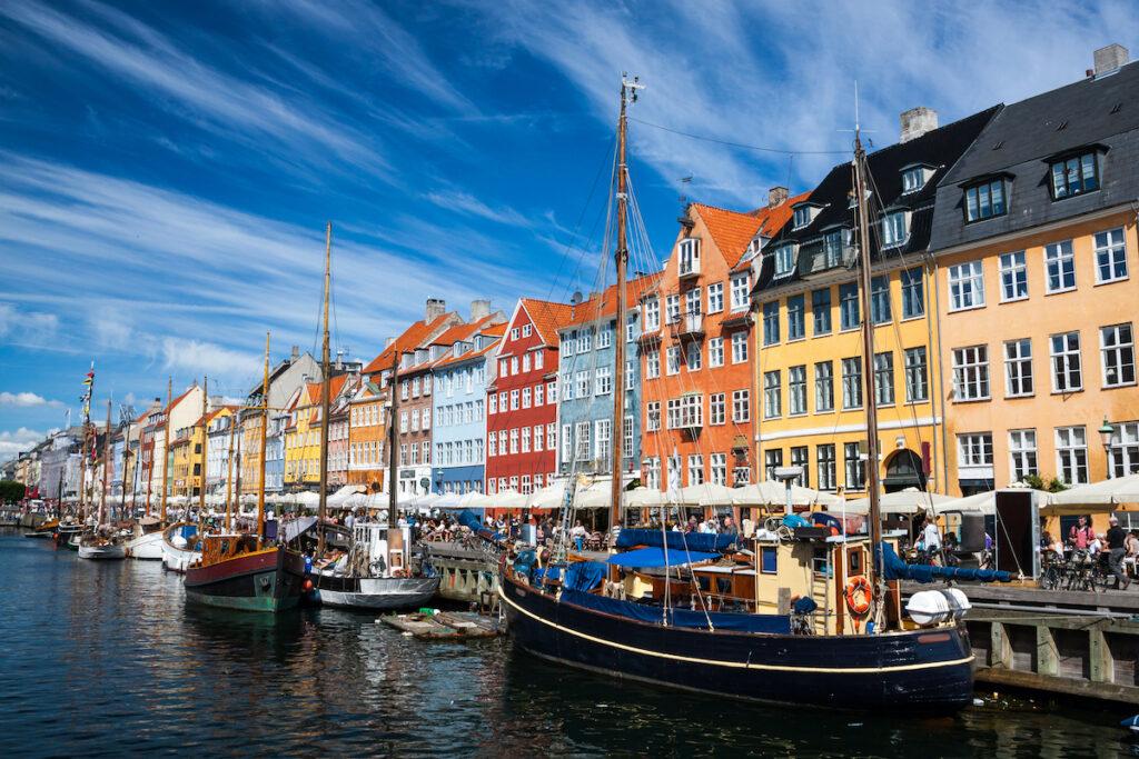 Harbor views in Copenhagen, Denmark.