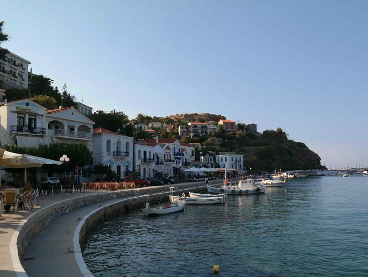 Harbour on Greek Island of Ikaria.