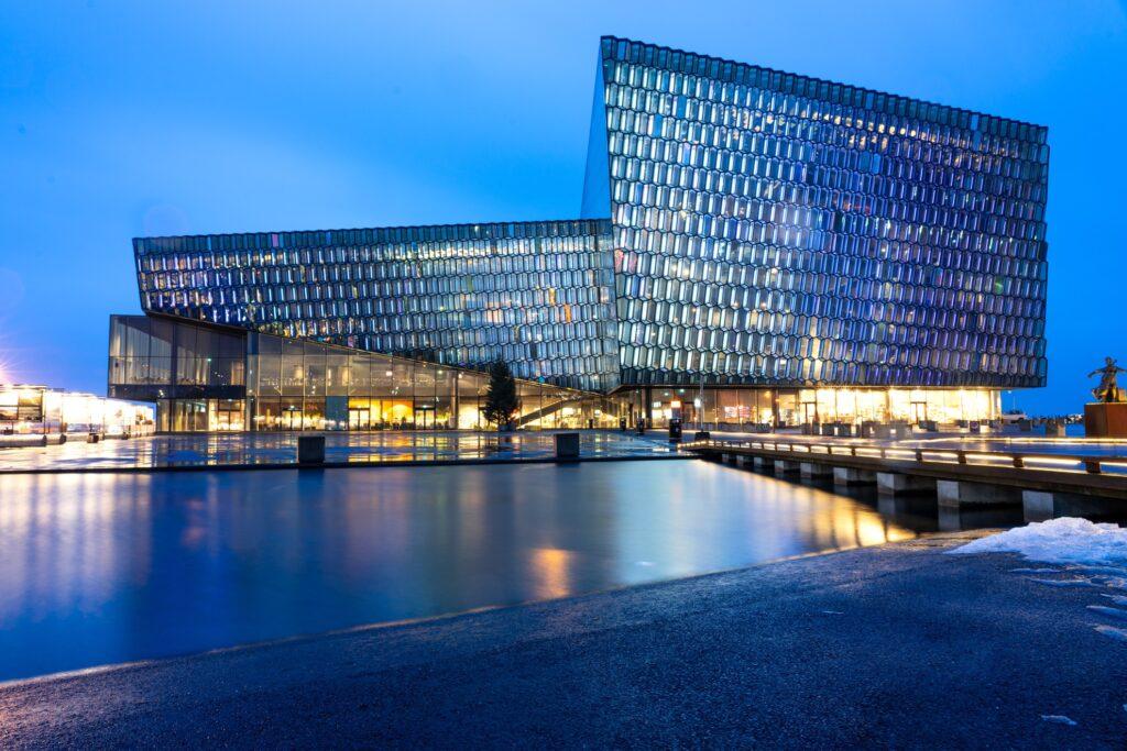 Harpa Concert Hall And Conference Centre in Reykjavik.