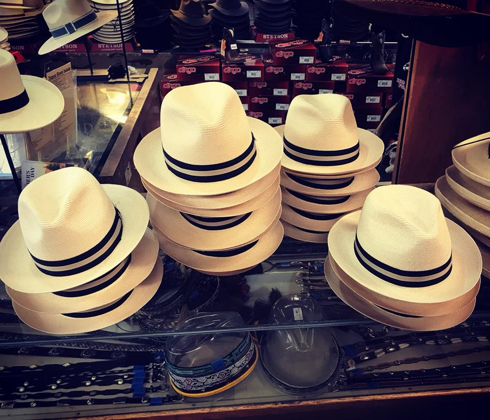 Hats from Paris Hatters.