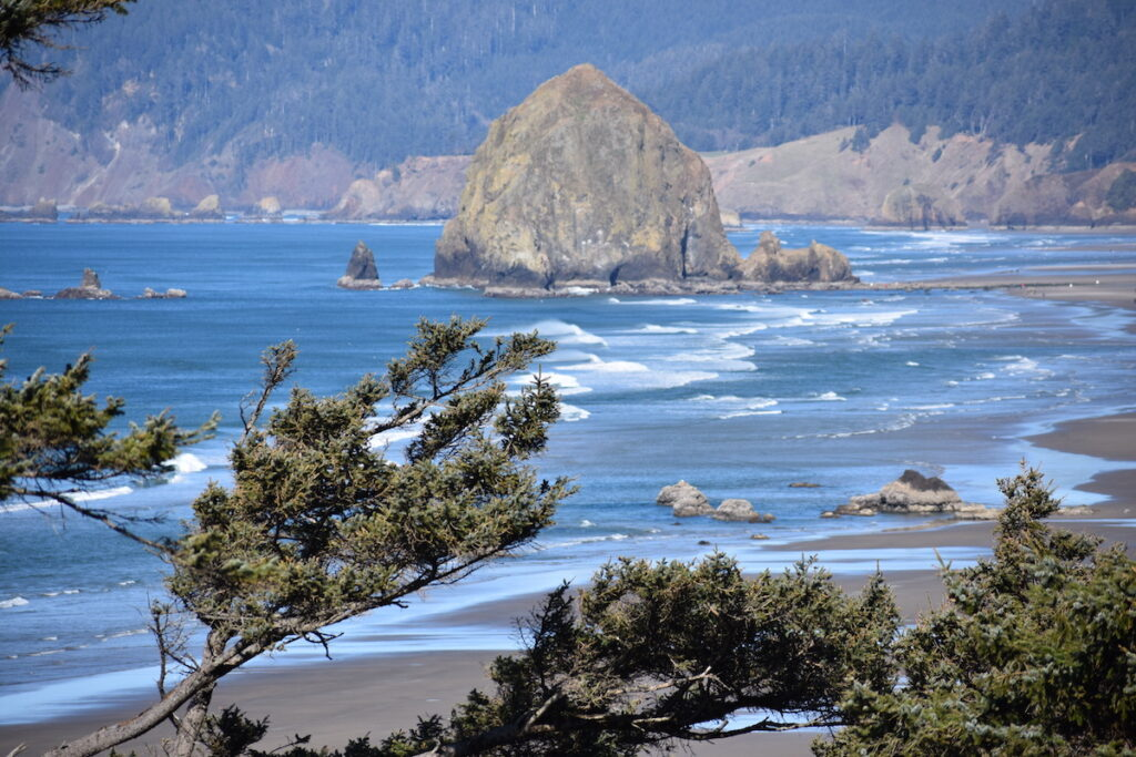 Haystack Rock at Cannon Beach in Oregon.