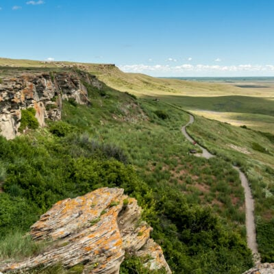 Head-Smashed-In Buffalo Jump World Heritage Site in Canada.