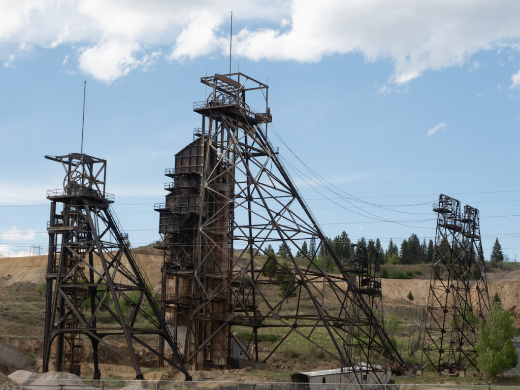 Headframes in Butte, Montana.