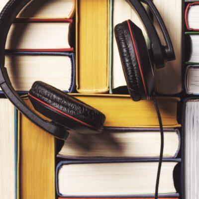 Headphones and books.