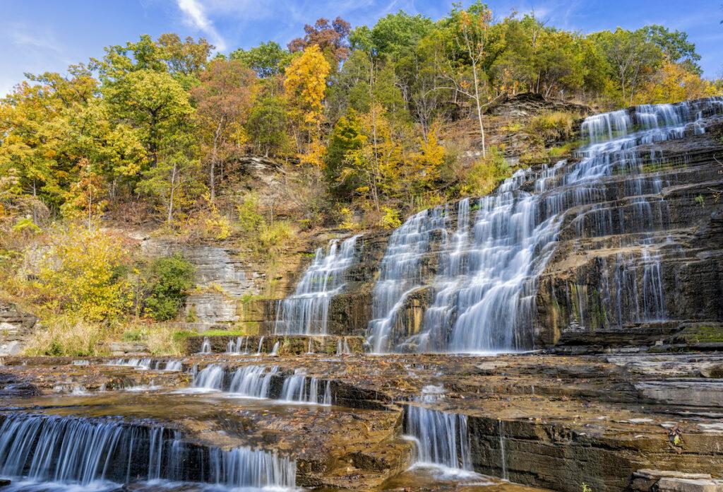 Hector Falls in Watkins Glen, New York.