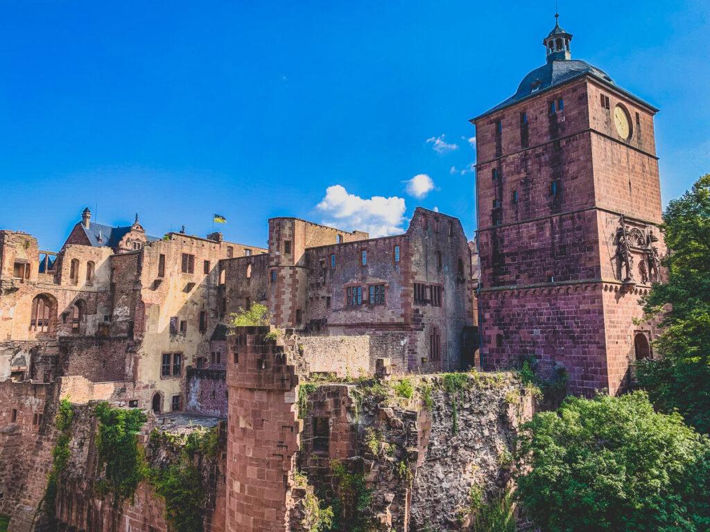 Heidelberg Castle in Old Town.