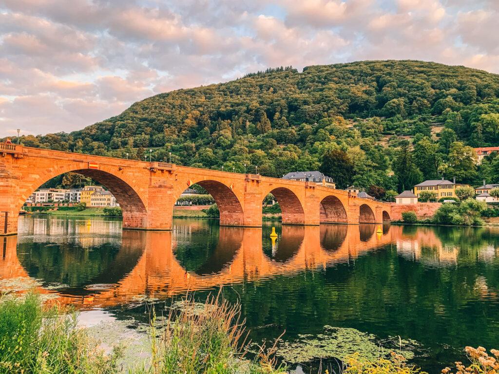 Heidelberg's Old Bridge at sunrise.