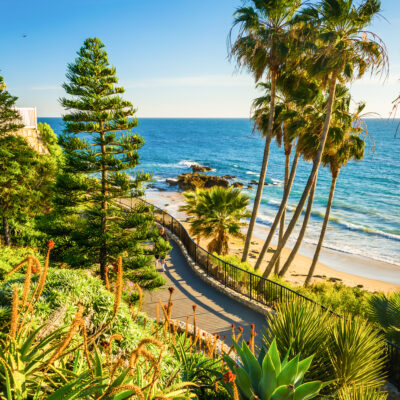 Heisler Park in Laguna Beach, California.