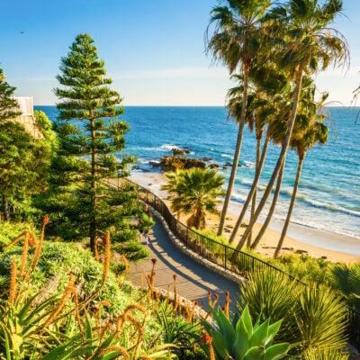 Heisler Park in Laguna Beach, California.