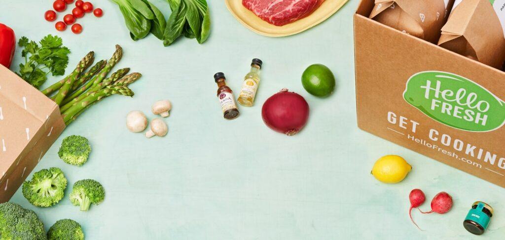 HelloFresh box with vegetables