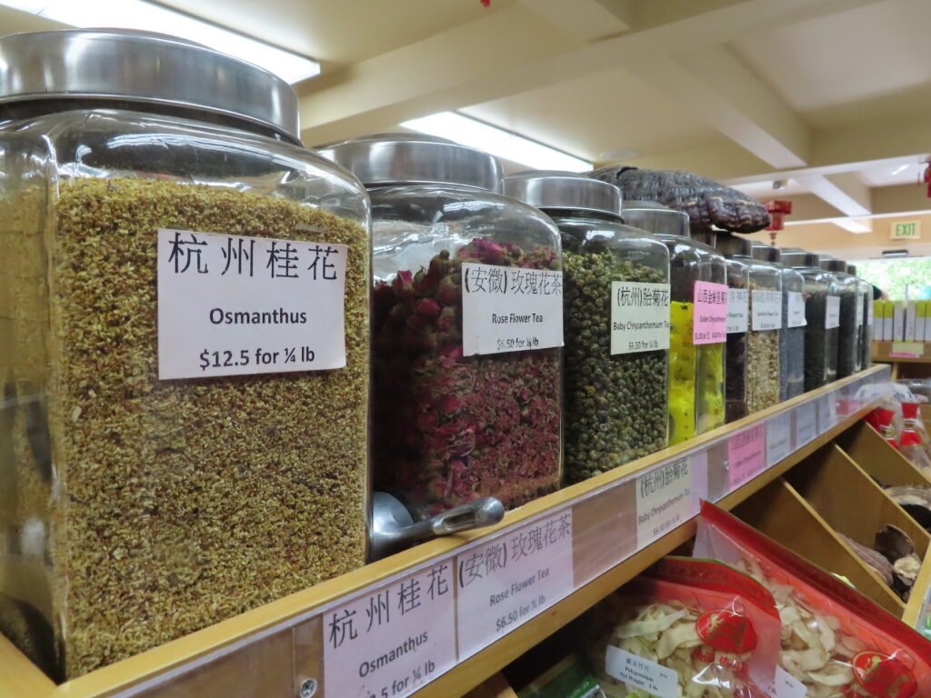 Herbal remedies in a pharmacy in Chinatown.