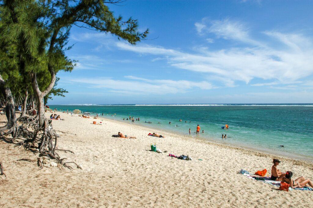 Hermitage Beach on Reunion Island.