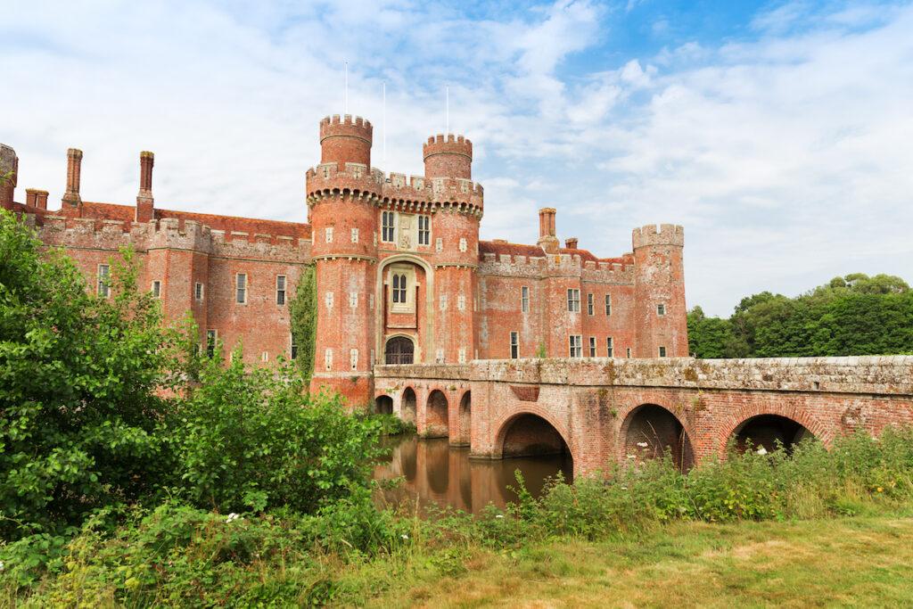 Herstmonceux Castle in East Sussex, England.