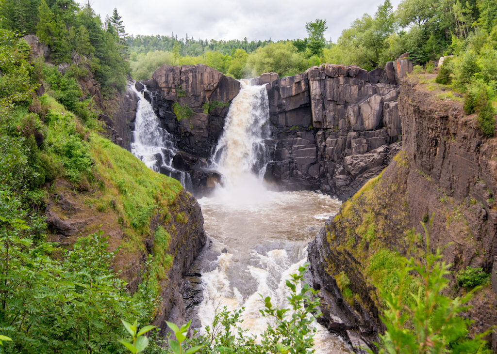 High Falls at Grand Portage State Park in Minnesota.