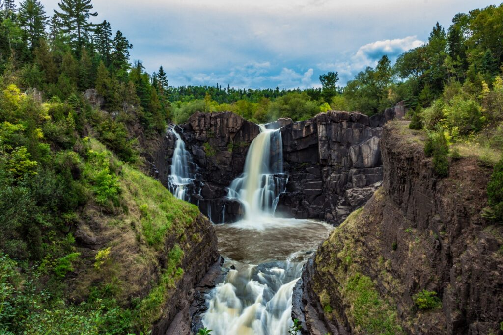 High Falls on Pigeon River in Ontario.