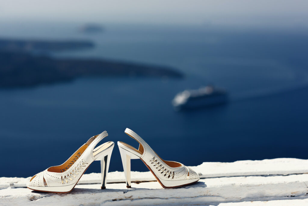 High heeled shoes in Greece.