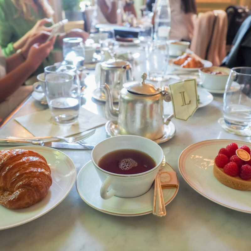 High tea at Laduree in Paris.